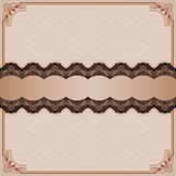Vintage ornamental design with arabesques divider and artistic frame Stock Photo