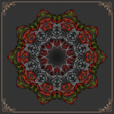Vintage, ornamental design; Colorful, arabesques mandala/rosette Stock Photo