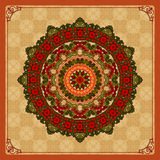 Vintage ornamental design colorful, arabesques mandala/rosette Royalty Free Stock Photo