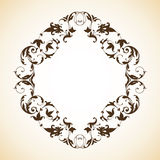 Vintage ornamental frame. Vintage decorative ornamental elegant frame. Vector template royalty free illustration