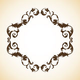 Vintage ornamental frame. Vintage decorative ornamental elegant frame. Vector template stock illustration