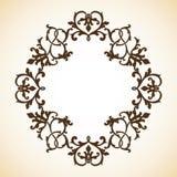 Vintage ornamental frame. Vintage decorative ornamental elegant  frame. Vector template Royalty Free Stock Image
