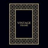 Vintage ornamental frame. Vintage ornamental decorative label frame. Retro template for design vector illustration