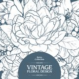 Vintage ornamental frame floral background design.Template card invitation banner with beautiful flowers. vector illustration