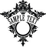 Vintage ornamental frame template. For your title Royalty Free Stock Photo