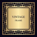 Vintage ornamental frame stock illustration