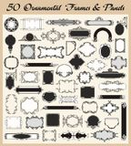 Vintage Ornamental Frames And Panels Vector Set Stock Photo