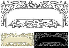 Vintage Ornamental headers with ribbons Royalty Free Stock Photos