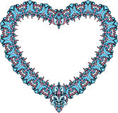 Vintage ornamental heart shape. Valentines Day car Royalty Free Stock Images