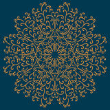 Vintage ornamental round pattern. Vector Royalty Free Stock Image