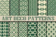 Art Deco patterns. Vintage ornamental seamless patterns set in Art Deco style Royalty Free Stock Photography