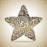Vintage ornamental star. Decorative icon on a background with pattern. Vintage ornamental star symbol. Decorative icon on a background with pattern Stock Image