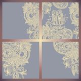 Vintage ornamental template collection Royalty Free Stock Photos