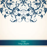 Vintage ornamental template. With decorative color border Royalty Free Stock Images