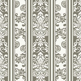 Vintage ornamental template with pattern. Damask seamless floral background pattern. Vector illustration royalty free illustration