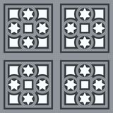 Vintage ornamental tile set square with border in blue small Stock Photo