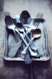 Vintage ornamented cutlery Stock Image