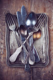 Vintage ornamented cutlery Royalty Free Stock Photo