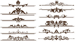 Vintage ornaments corners, borders design