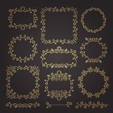 Vintage ornaments and dividers. Design elements set. Ornate floral frames and banners. Vector graphic elements for design. vector illustration