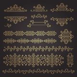 Vintage ornaments and dividers. Design elements set. Ornate floral frames and banners. Vector graphic elements for design. royalty free illustration