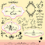 Vintage ornaments and frames Royalty Free Stock Photography