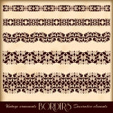 Vintage ornaments, and page decoration, exclusive Royalty Free Stock Photos