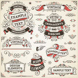 Vintage Ornaments And Ribbons Royalty Free Stock Images