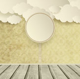 Vintage Ornate Background With Clouds Royalty Free Stock Images