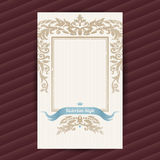 Vintage ornate card in Victorian style. Stock Images