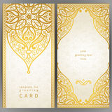 Vintage ornate cards in oriental style. Royalty Free Stock Images