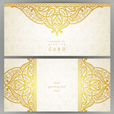 Vintage ornate cards in oriental style. Stock Images