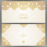 Vintage ornate cards in oriental style. Stock Photography
