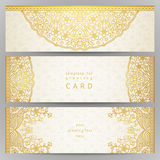 Vintage ornate cards in oriental style. Stock Photos