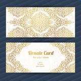 Vintage ornate cards in oriental style. Royalty Free Stock Photos