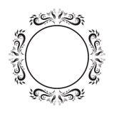 Vintage Ornate circle Frame. vector frame. stock illustration