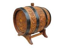 Vintage ornate decor wine barrel Stock Images