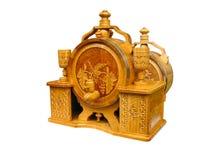 Vintage ornate decor wine barrel isolated Stock Images