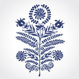 Vintage ornate element with floral motifs. Royalty Free Stock Photos