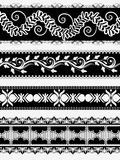 Vintage ornate floral border for divider Stock Photo