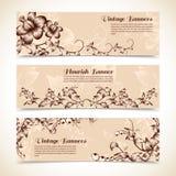 Vintage ornate flourish horizontal banner Stock Image