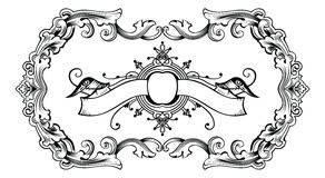 Vintage Ornate Frame And Banner Royalty Free Stock Photos