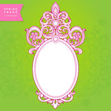 Vintage ornate frame with place for your text. Royalty Free Stock Images