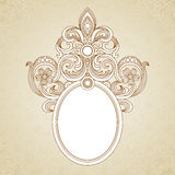 Vintage ornate frame with place for your text. Royalty Free Stock Photography