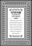 Vintage ornate frame with sample text Stock Images