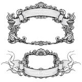 Vintage ornate frames with scroll