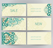 Vintage ornate labels in east style. Stock Image