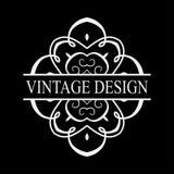 Vintage ornate logo stock illustration