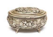 Vintage ornate metal brass casket Royalty Free Stock Photo