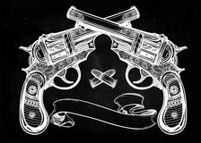 Vintage ornate pistol illustration. Royalty Free Stock Photography